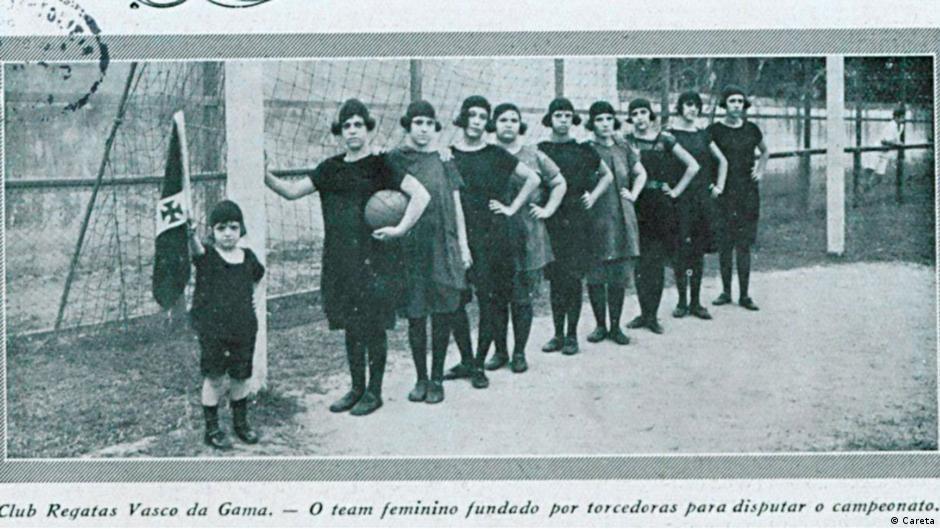 Torcedoras fundadoras do time feminino do Club de Regatas Vasco da Gama, em 1923