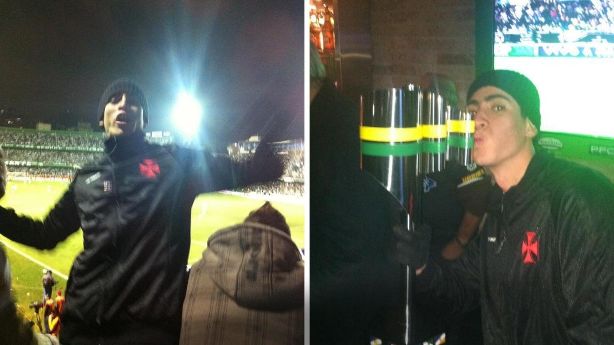 Vascaíno conseguiu burlar a segurança e entrou de penetra na comemoração do Vasco, ainda em Curitiba.