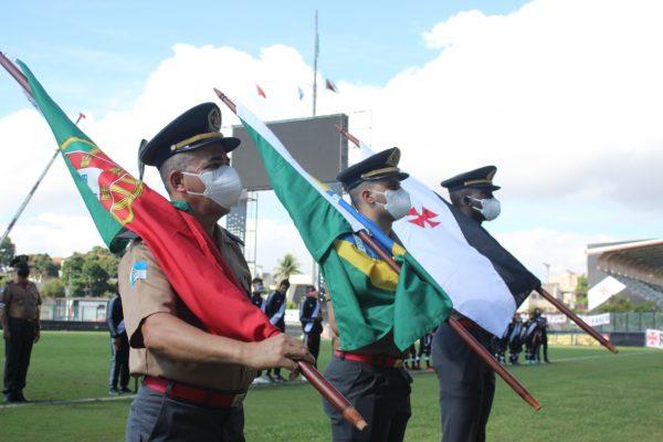 As bandeiras de Portugal, Brasil e Vasco da Gama
