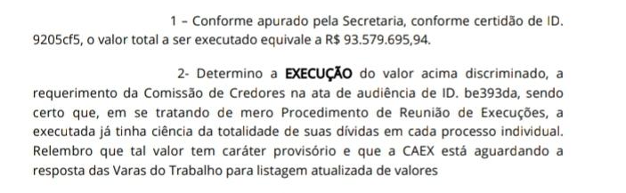Decisão horas antes do recurso deferiu execução milionária do Reef contra o Vasco