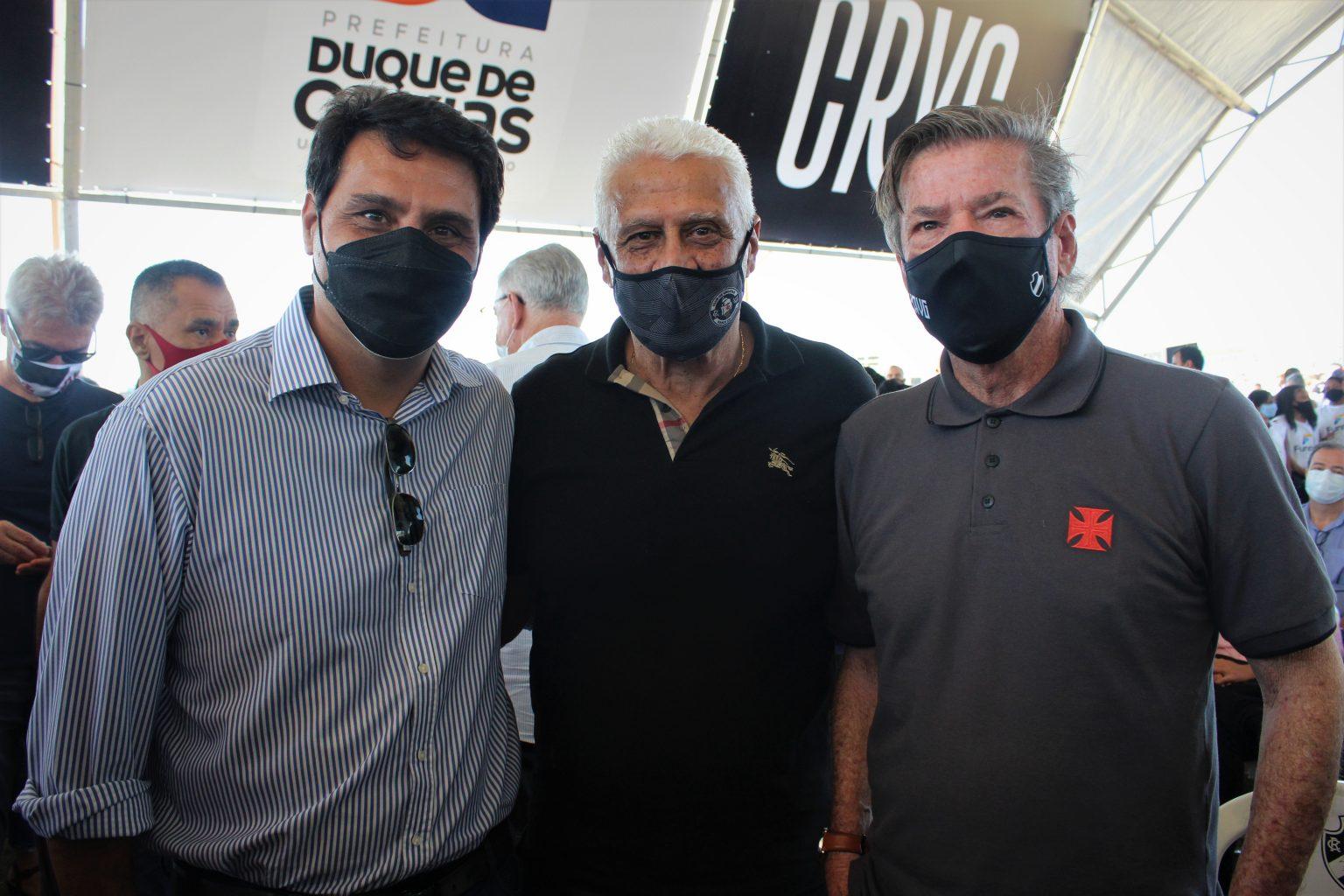 Roberto Duque Estrada, Roberto Dinamite e Jorge Salgado marcaram presença no evento