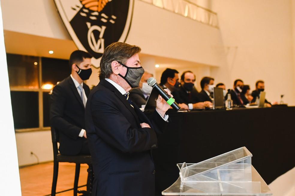 Jorge Salgado, presidente do Vasco, na sua cerimônia de posse
